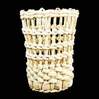 Корзина плетеная из кукурузы ручной работы 9426