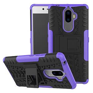 Чехол накладка для Lenovo K8 Note противоударный с подставкой, фиолетовый
