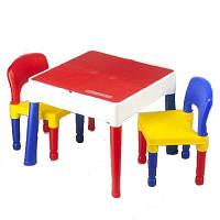 Столик Tega Building Block с двумя стульчиками Цветной
