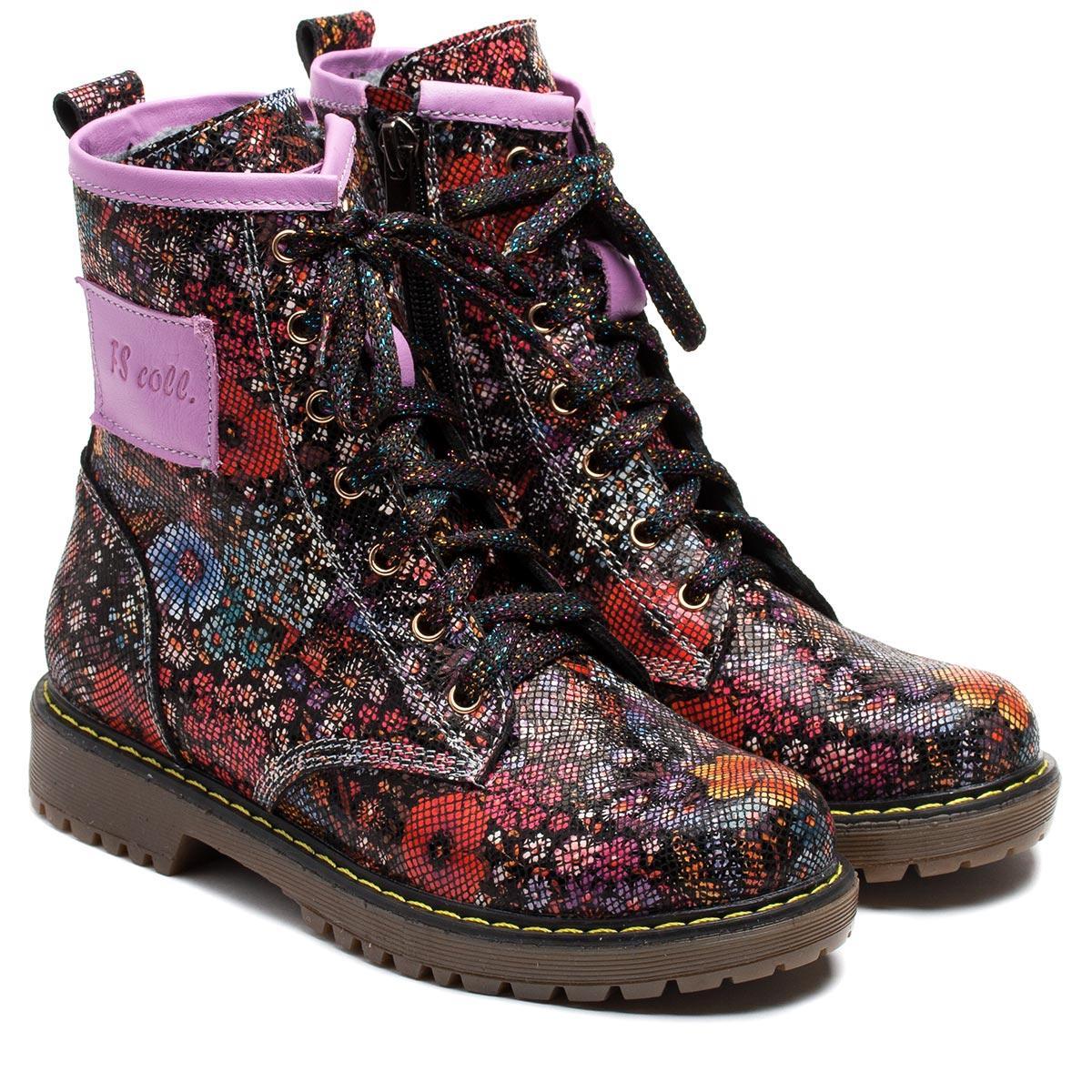 Кожаные ортопедические ботинки FS Сollection для девочки, демисезонные, размер 26-36
