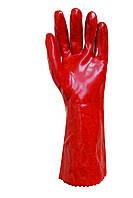 Перчатки МБС с полным ПВХ-обливом красные длинные 35 см Seven WV-1005 69254