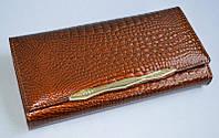 Кошелек Balisa 6 женский кожаный с монетницей на защелке внутри 18 см * 9 см  Коричневый