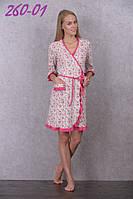 Женский халат с цветочным принтом