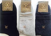 """Носки мужские зимние махровая стопа """"LOUIS VUITTON"""" 41-45 размер, ассорти"""