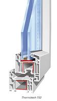 Балконный блок профиль Wintech 5 кам двери открываются в двух положениях