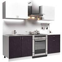 Кухонный гарнитур 1,4 м из 4 модулей фиолетовая (кухонный комплект мебели)