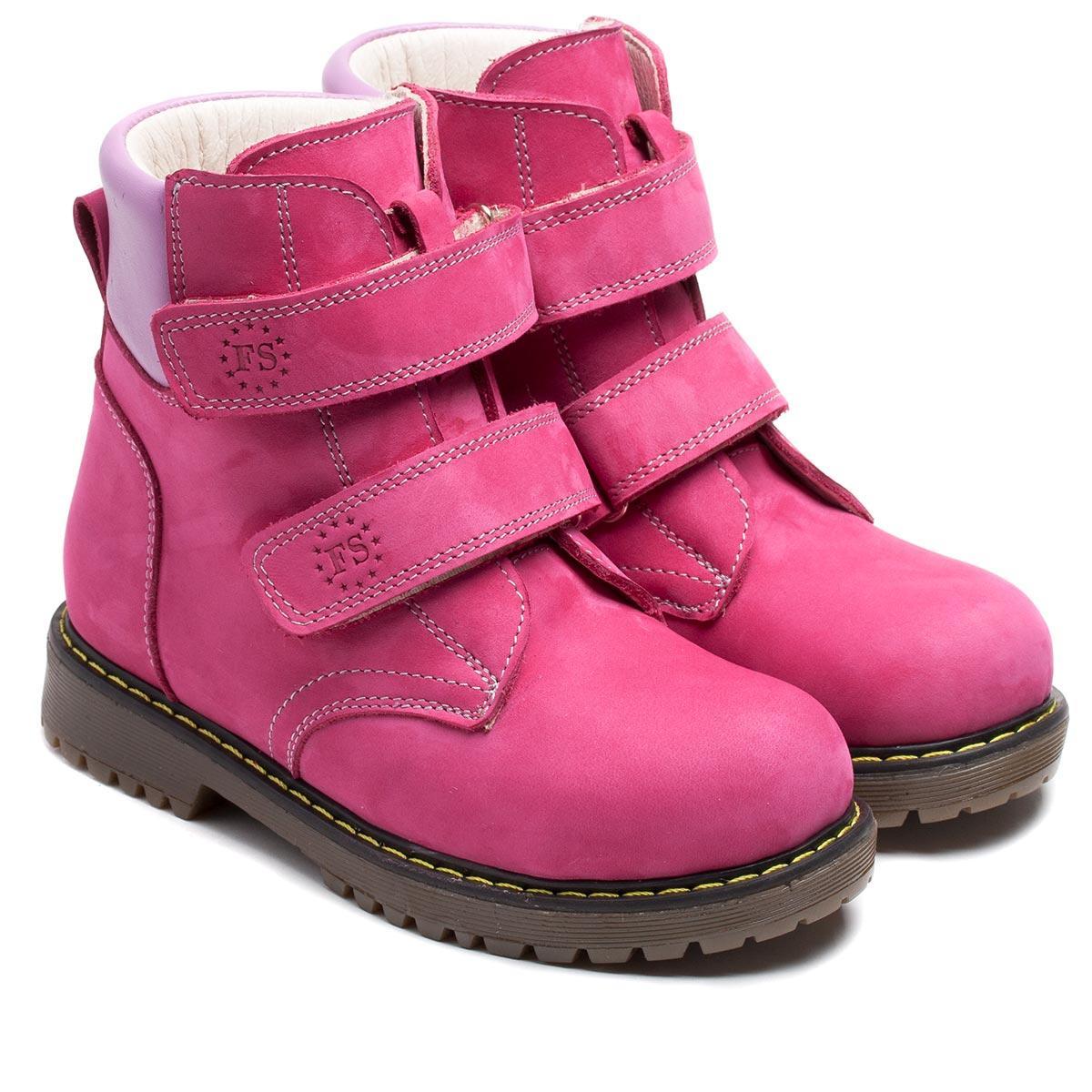 Зимние, ортопедические ботинки FS Сollection для девочки, на липучках,размер 21-36