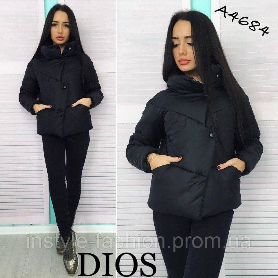 a61b6aa1ab5d Женская демисезонная куртка ткань плащевка