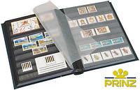 Альбом для марок Prinz A4 - 16 страниц - чёрная обложка