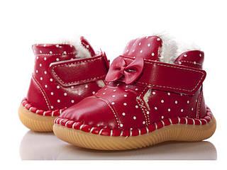 Обувь для девочек, детские пинетки красные