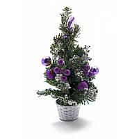 Декоративная настольная елка фиолет 30 см