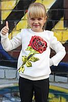 Свитшот детский Роза флис (4 цветов)