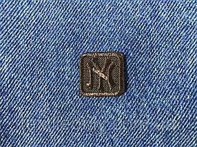 Нашивка New York s квадрат колір коричневий 20x20 мм