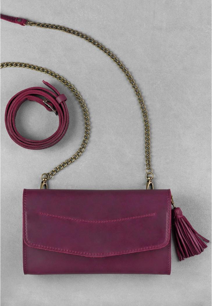 9b8b7922a976 Сумка кожаная Элис Виноград crossbody - Sollomia - интернет-магазин кожаных  изделий ручной работы от