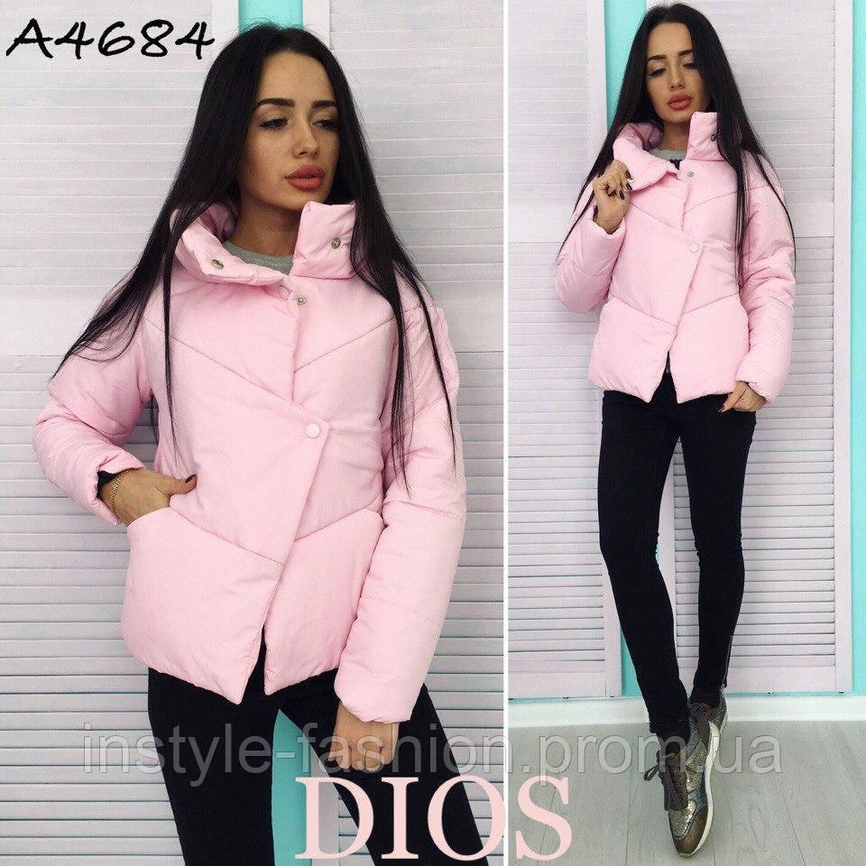 bc8ed39080c2 Женская демисезонная куртка ткань плащевка