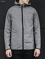 Весенне-осенняя куртка (ветровка) Staff - Soft shell light gray Art . BRZ0033 (серый)