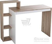 Стильный стол с боковыми открытыми полками дуб сонома