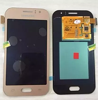 Оригинальный дисплей (модуль) + тачскрин (сенсор) Samsung Galaxy J1 Ace J110F J110G J110H J110L J110M золотой