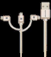 Кабель Promate uniLink-Trio Lightning/Micro-USB/USB Type-C - USB