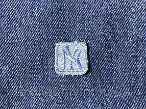 Нашивка New York s квадрат колір джинс синій 20x20 мм