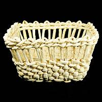 Корзина плетеная из кукурузы ручной работы 9427