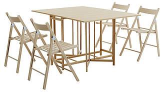 Комлект кухонный ( раскладной стол + 4 стула) бук