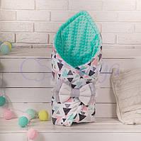 Конверт-одеяло на выписку, Треугольники loft