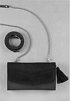 Сумка кожаная Элис Графит Велюр, фото 1