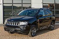 Хром накладки на передние фары Jeep Compass