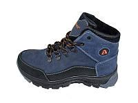 Ботинки зимние подростковые с нат.кожи Anser Winter Stael 62 Blue Размер: 35 36 37 38 39