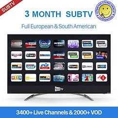 SUBTV - пакет IPTV на 3 месяца