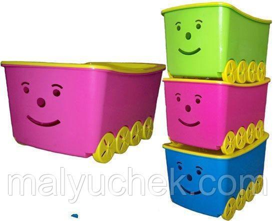 Ящик для игрушек PLAY 52 л фиолетовый
