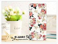Чехол с рисунком HTC Desire 628 Цветы