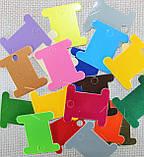 Шпули картонные цветные для мулине ( микс 20 шт.) , фото 2