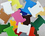 Шпули картонные цветные для мулине ( микс 20 шт.) , фото 3