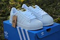 Размер: 41 42 43 44 45. Мужские кроссовки Adidas Superstar. Кожа 100%. Белые