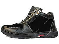 40 р Мужские полуботинки - ботинки зимние на меху (ПЗ-79чв)