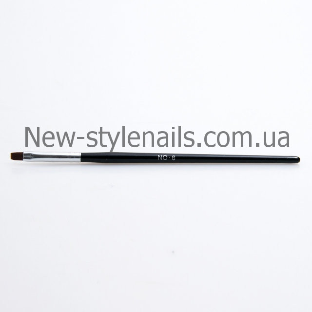 Кисти для геля №6, черная ручка