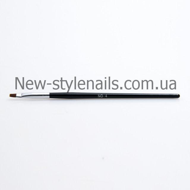 Кисти для геля №4, черная ручка