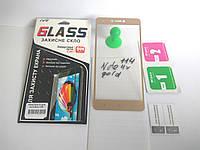 Защитное стекло для Xiaomi Redmi Note 4x Global version с золотыми рамками 2,5d в упаковке