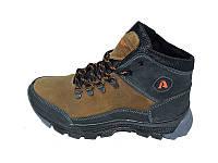 Ботинки зимние подростковые с нат.кожи Anser Winter Stael 62 Olive Размер: 35 36 37 38 39