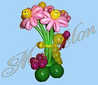 Букет из шариков Улыбчивые ромашки