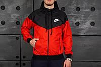Мужская ветровка/куртка/виндраннер найк (Nike), красная