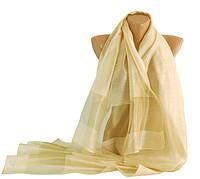 Стильный женский шарф, шелк, 200х70 см, Trаum 2495-63, цвет бежевый.