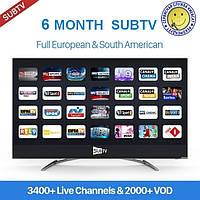 SUBTV - пакет IPTV на 6 месяцев