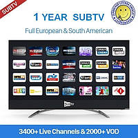 SUBTV - пакет IPTV на 12 месяцев