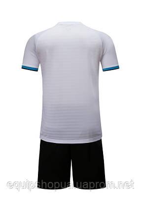 Футбольная форма Europaw 016 бело-черная, фото 2