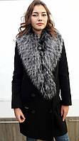 Пальто кашемировое зимнее женское с мехом