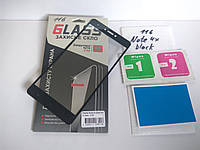 Защитное полноэкранное стекло для Xiaomi Redmi Note 4x Global version с черными рамками 2,5d в упаковке