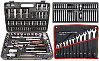 Набор инструментов 94 элемента + YATO комплект рожковых ключей и набор бит